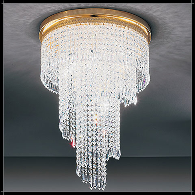 Lustre design moderne cascades en cristal au plomb 24% Voltolina Twister