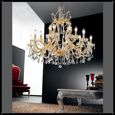Lustre style baroque en cristal au plomb 24% Voltolina Innsbruck