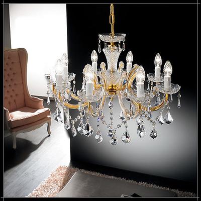 Lustre baroque en cristal au plomb 24% Voltolina Lienz