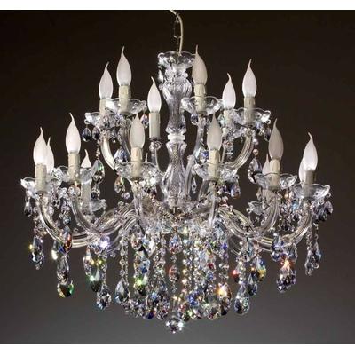 Lustre en cristal Spectra® Swarovski® 18 feux grosses pampilles Castiglione