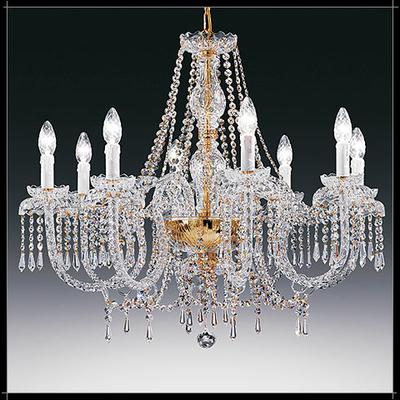 Lustre baroque en cristal au plomb 24% Voltolina Alicante