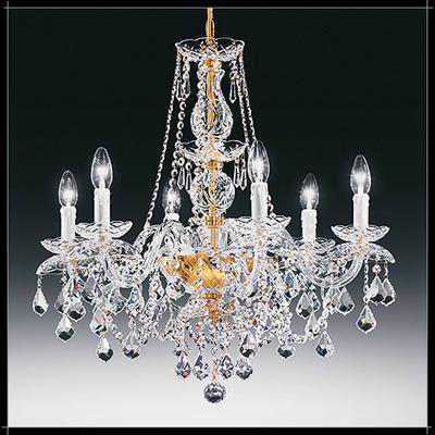 Lustre baroque en cristal au plomb 24% Voltolina Temptation