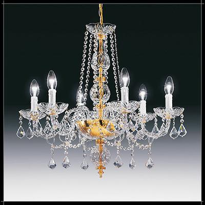 Lustre baroque en cristal au plomb 24% Voltolina Toledo