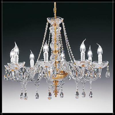 Lustre baroque en cristal au plomb 24% Voltolina Siviglia