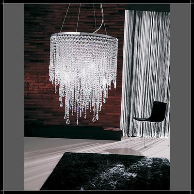 Lustre design en cristal au plomb 24% Voltolina Cascade