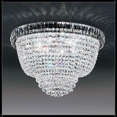Plafonnier montgolfière en cristal au plomb 24% Voltolina Roma