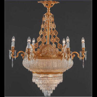 Lustre en verre de style Empire Ø95 cm Magenta