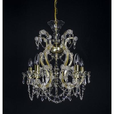 Lustre Marie-Thérèse en cristal de Bohême WRANOVSKY au plomb 30 % 5 feux ø50cm H57cm