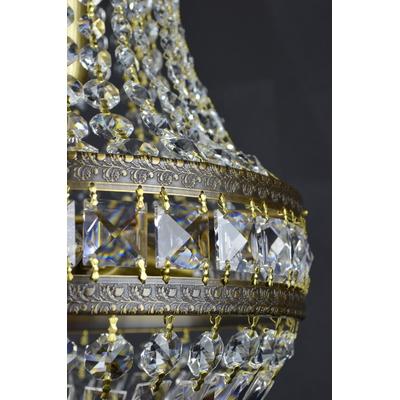 Lustre montgolfière WRANOVSKY KINGSTON en diamètre de 30 à 75 cm en cristal de Bohême au plomb 30 %