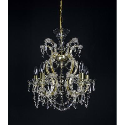 Lustre Marie-Thérèse 5 feux WRANOVSKY GOULAINE en cristal de Bohême au plomb 30 % ø50cm H57cm