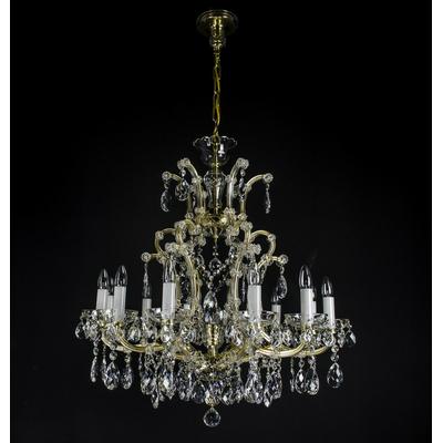 Lustre Marie-Thérèse 13 feux WRANOVSKY VENDOME en cristal de Bohême au plomb 30 % Ø80cm H90cm