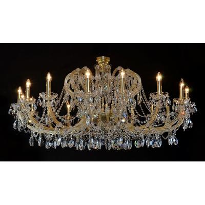 Lustre Marie-Thérèse 18 feux WRANOVSKY CHINON en cristal de Bohême au plomb 30 % Ø160cm H80cm