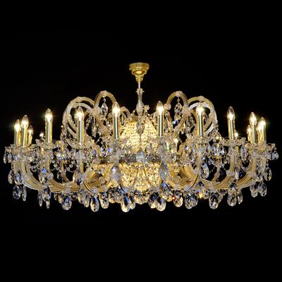 Lustre Marie-Thérèse 36 feux WRANOVSKY SAUMUR en cristal de Bohême au plomb 30 % Ø160cm H80cm