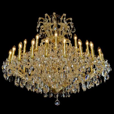 Lustre Marie-Thérèse 37 feux WRANOVSKY ROCHAMBEAU en cristal de Bohême au plomb 30 % Ø120cm H120cm