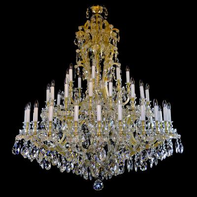 Lustre Marie-Thérèse 48 feux WRANOVSKY CHEVERNY en cristal de Bohême au plomb 30 % Ø160cm H180cm