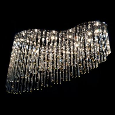 Plafonnier suspension moderne 11 feux WRANOVSKY SYMPHONY en cristal de Bohême au plomb 30 % sur 1,60 m de long