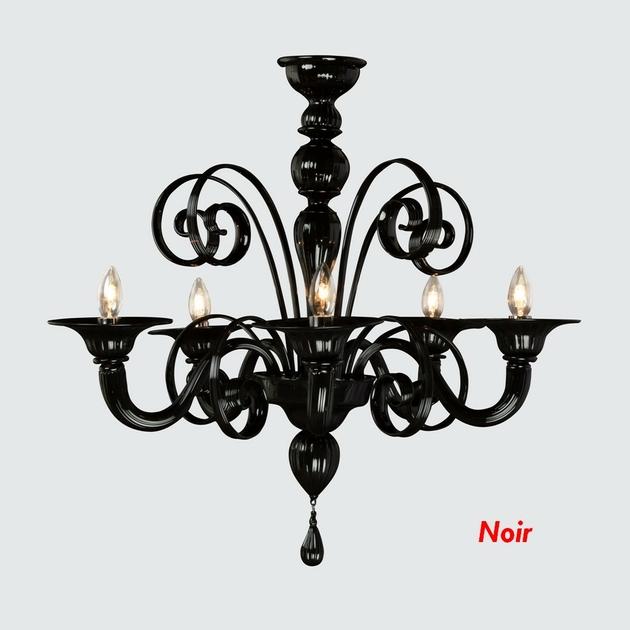 Lustre baroque en verre de murano personnalisable pacentro - Lustre baroque noir ...
