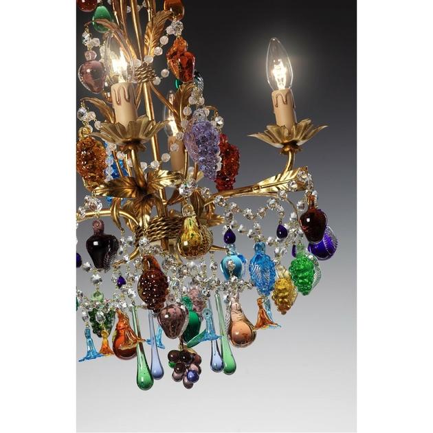 lustre en verre de murano 4 feux baglioni luminaires murano. Black Bedroom Furniture Sets. Home Design Ideas