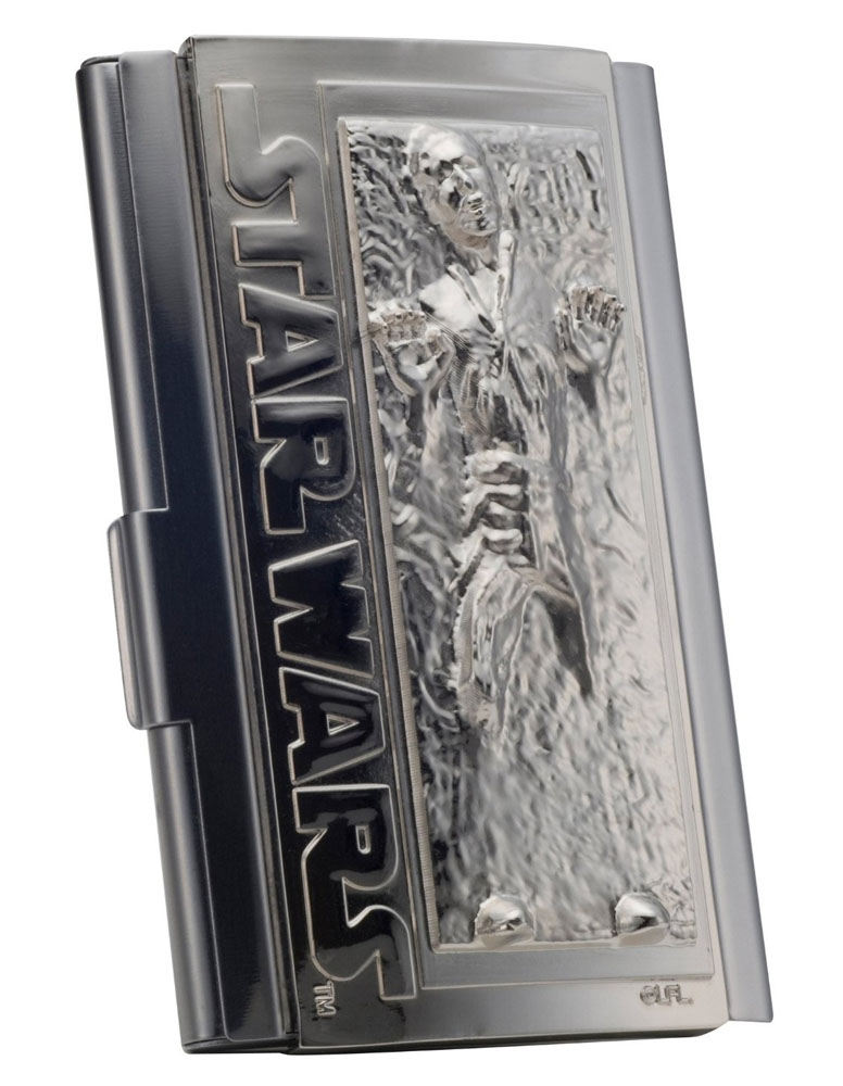 Star Wars étui pour cartes de visite Han Solo dans Carbonite