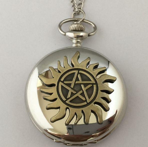 Montre de poche Supernatural symbole anti possession montre supernatural