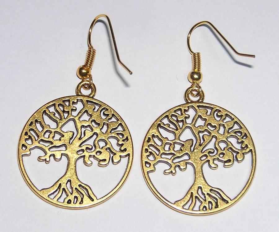 Once Upon A Time boucles d\'oreilles Regina arbre de vie OUAT regina\'s earrings