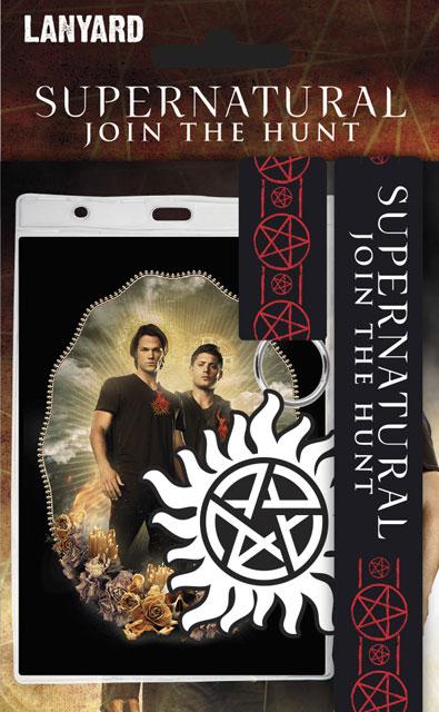 Pack Supernatural tour de cou porte clés et carte