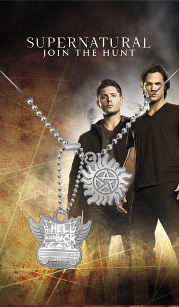 Pendentif supernatural pentagramme anti possession