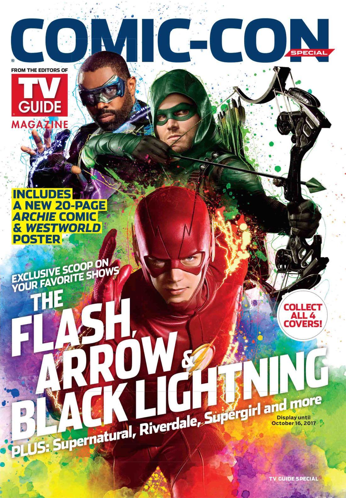 Comic con 2017 magazine Tv Guide special comic con The Flash Arrow 2017