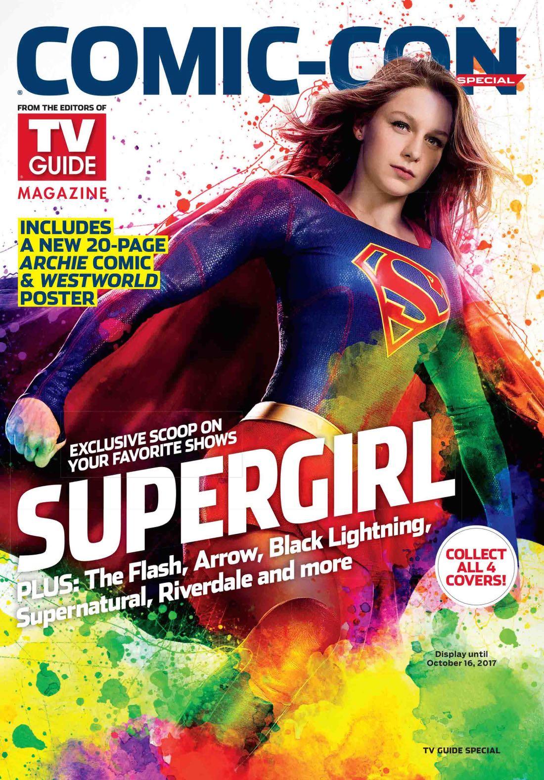 Comic con 2017 magazine Tv Guide special comic con Supergirl 2017