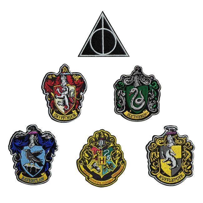 Lot 6 ecussons brodés officiels Harry potter