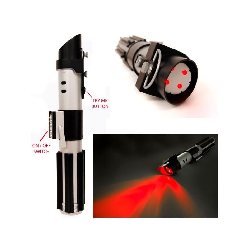 lampe torche sabre laser star wars dark vador cin ma fancorner. Black Bedroom Furniture Sets. Home Design Ideas