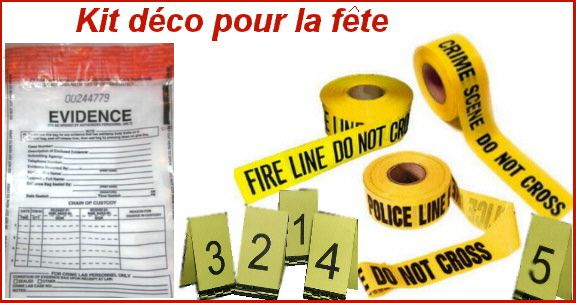Kit de décoration scene de crime