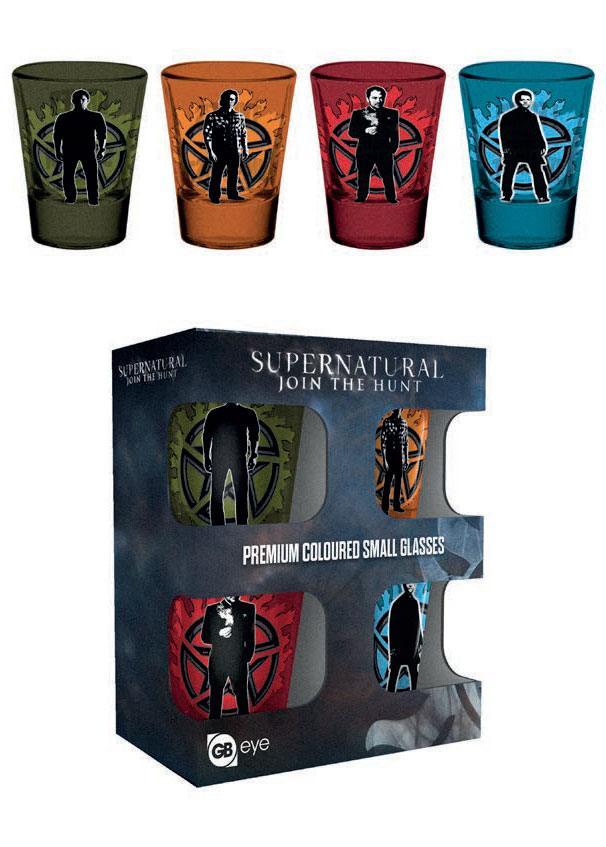 Supernatural Set de 4 verres à liqueur
