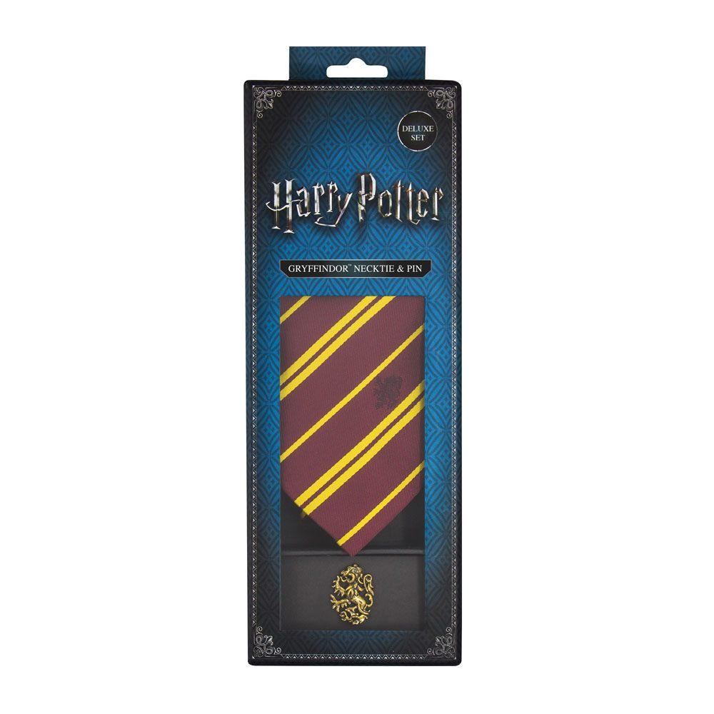 Coffret deluxe Harry potter cravate et pins gryffondor