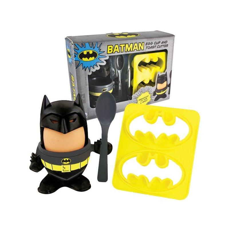 Kit coquetier et decoupe toasts Batman