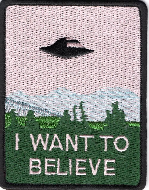 Ecusson brode I want to believe serie X-files