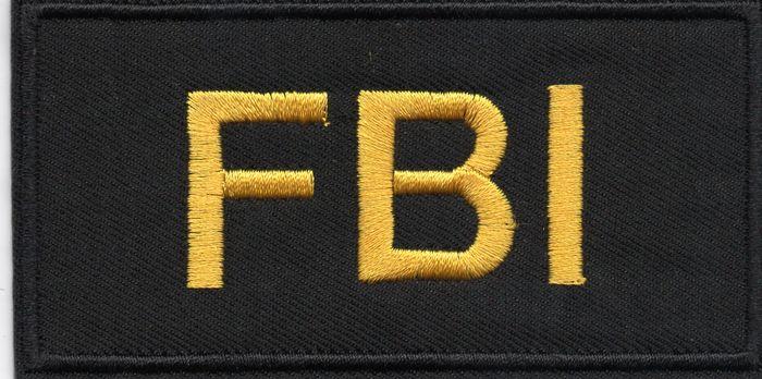 Ecusson brodé agent du FBI