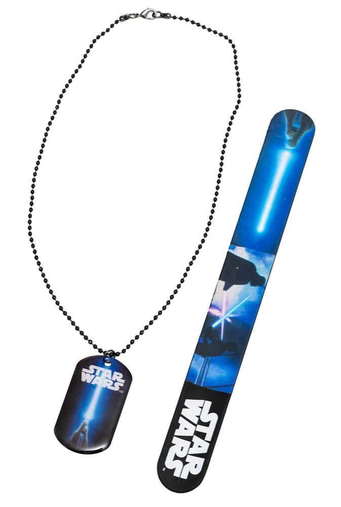 Pack Collier et bracelet Star Wars Luke contre Vador