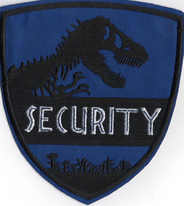 Ecusson de la securité du Jurassic World