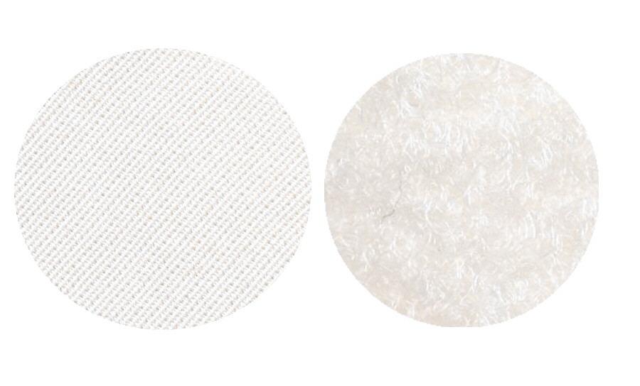 Velcros blanc male et femelle pour ecusson rond-3 Tailles-