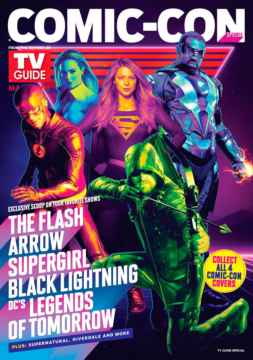 Magazine Tv Guide comic con San Diego 2018 Supergirl The Flash Arrow