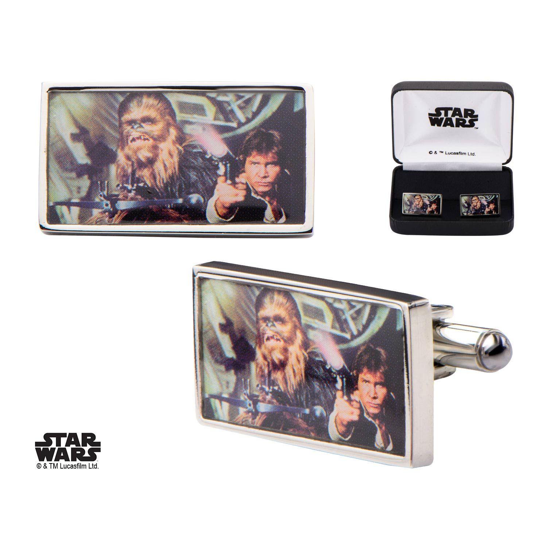 Star wars boutons de manchettes Han Solo & Chewbacca