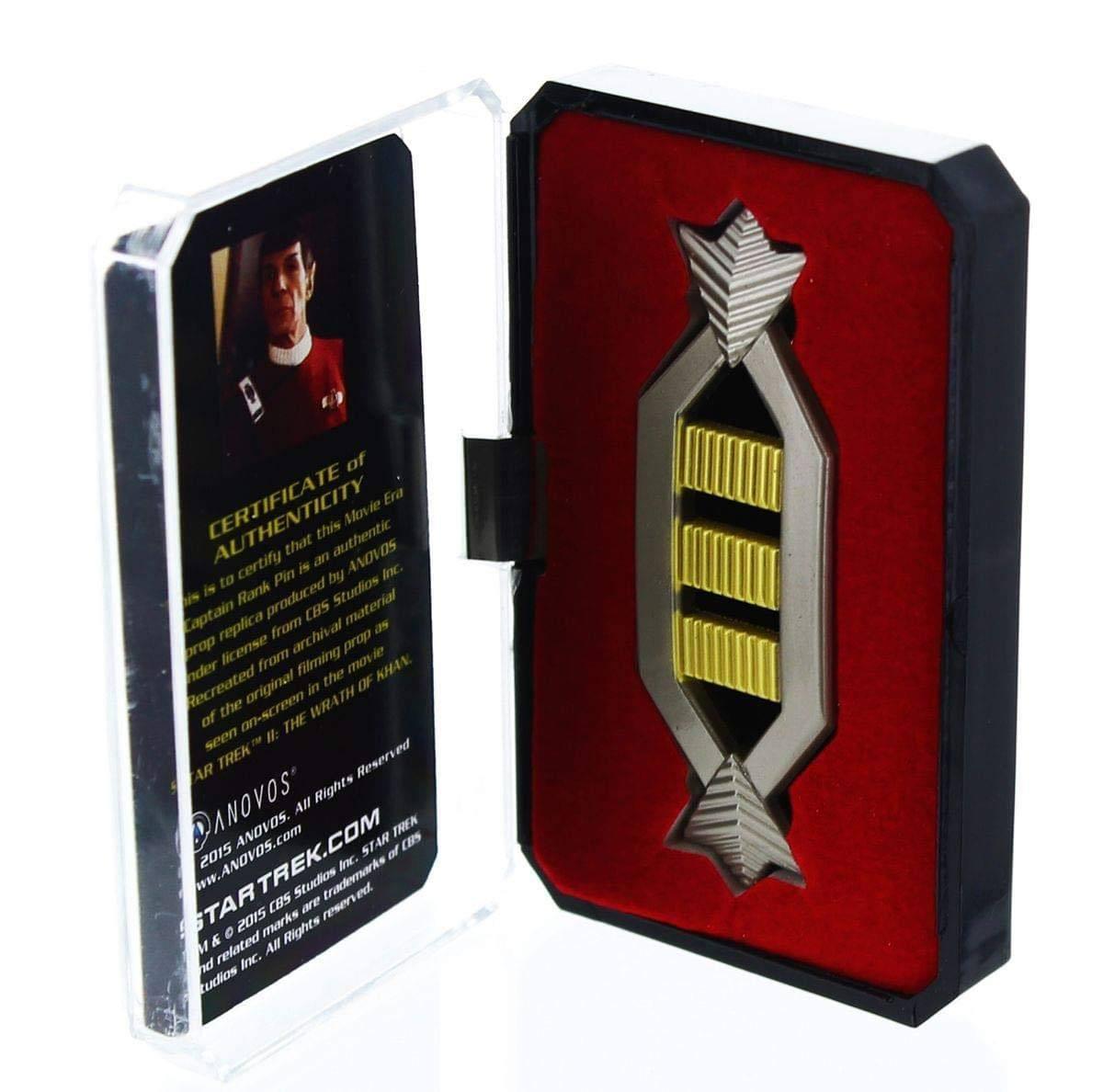 Star trek réplique insigne grade capitaine