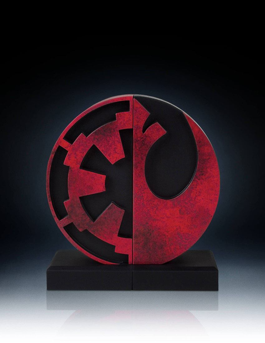 Star Wars serre livres logo empire et forces rebelles
