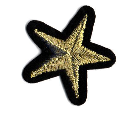 Ecusson étoile dorée ou argentée