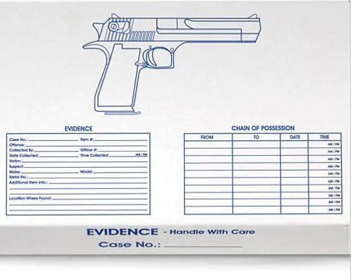 Boite pour revolver pour votre murder party