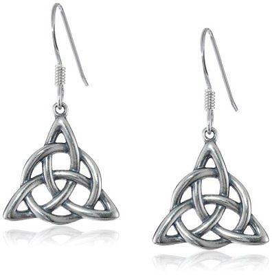 Boucles d\'oreilles Charmed symbole des 3 soeurs en étain