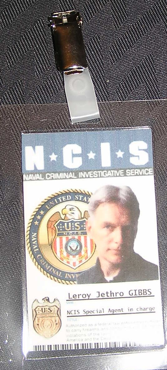 Carte d\'identification agent Ncis pour cosplay