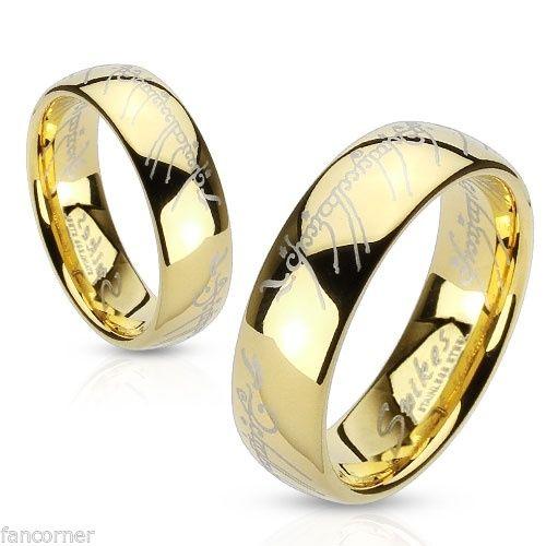 anneau,seigneur,des,anneaux,dore