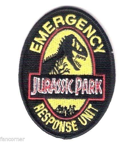 Ecusson de l\'equipe d\'intervention d\'urgence du Jurassic park
